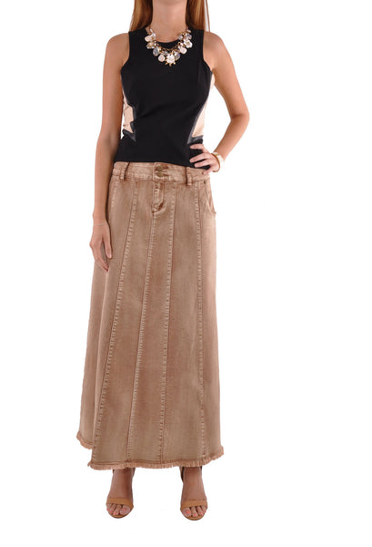 Flawless Beauty Long Denim Skirt # RE-0591