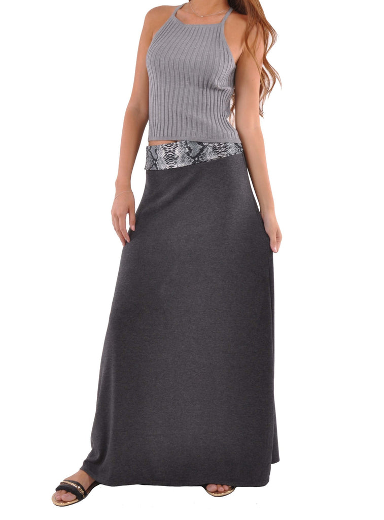 Comfy Chic Maxi Skirt - Plus Size # REP-0601