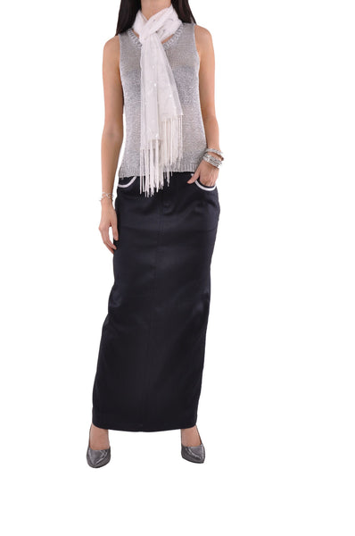 Silver Embellishment Pencil Skirt # RE-0616