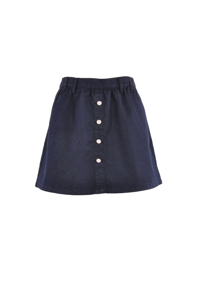 Love Button Denim Skirt # SH-0582