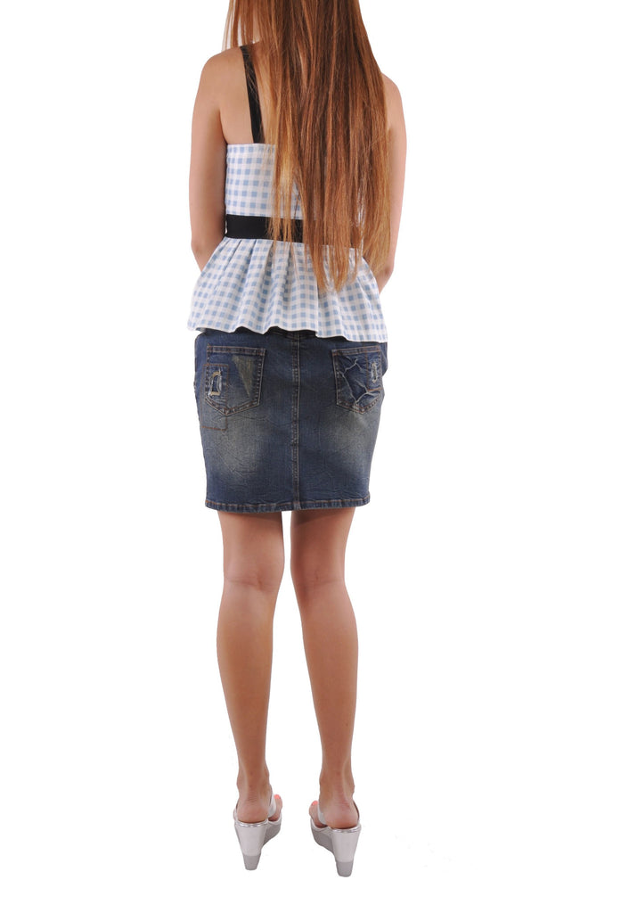 Weekend Cutie Jean Skirt # SH-0590