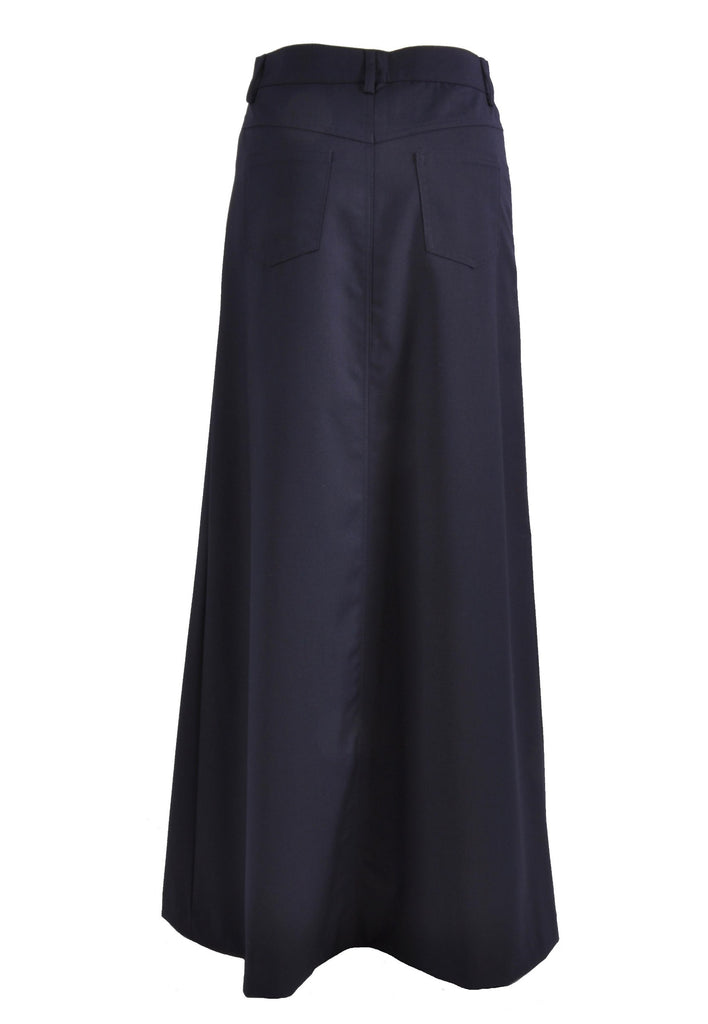 Plain Blue Long Skirt # TA-0426