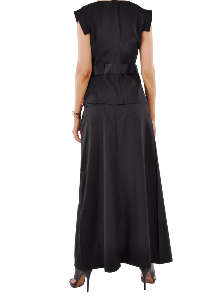 Just Chic Black Long Skirt # TA-0487