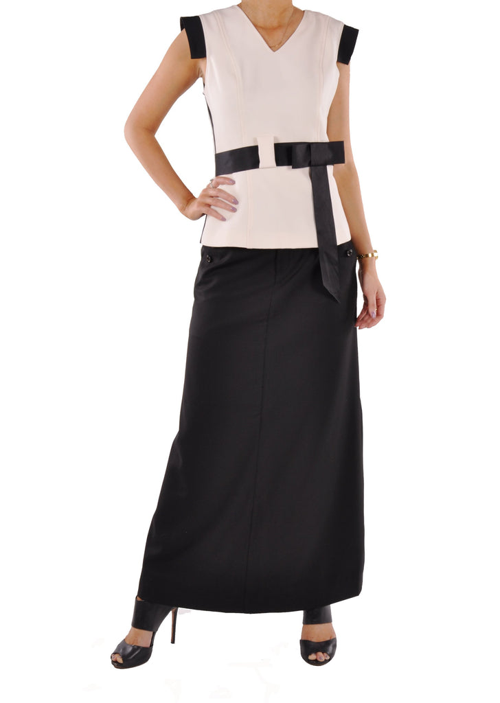Just Chic Black Long Skirt - Plus Size # TAP-0487