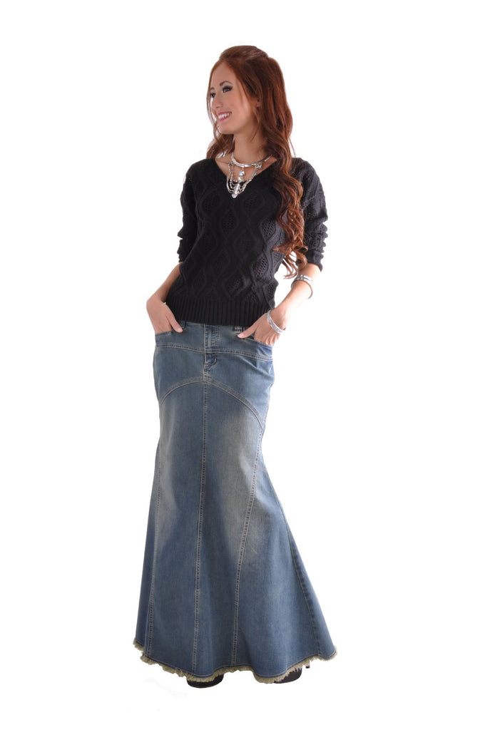 Vintage Vogue Long Denim Skirt # TA-0518
