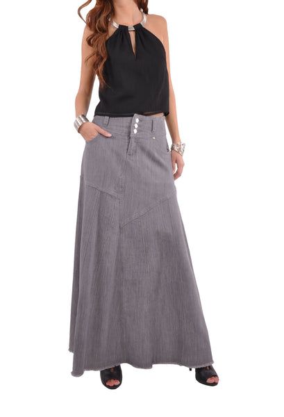Stunning In Gray Denim Skirt # TA-0570