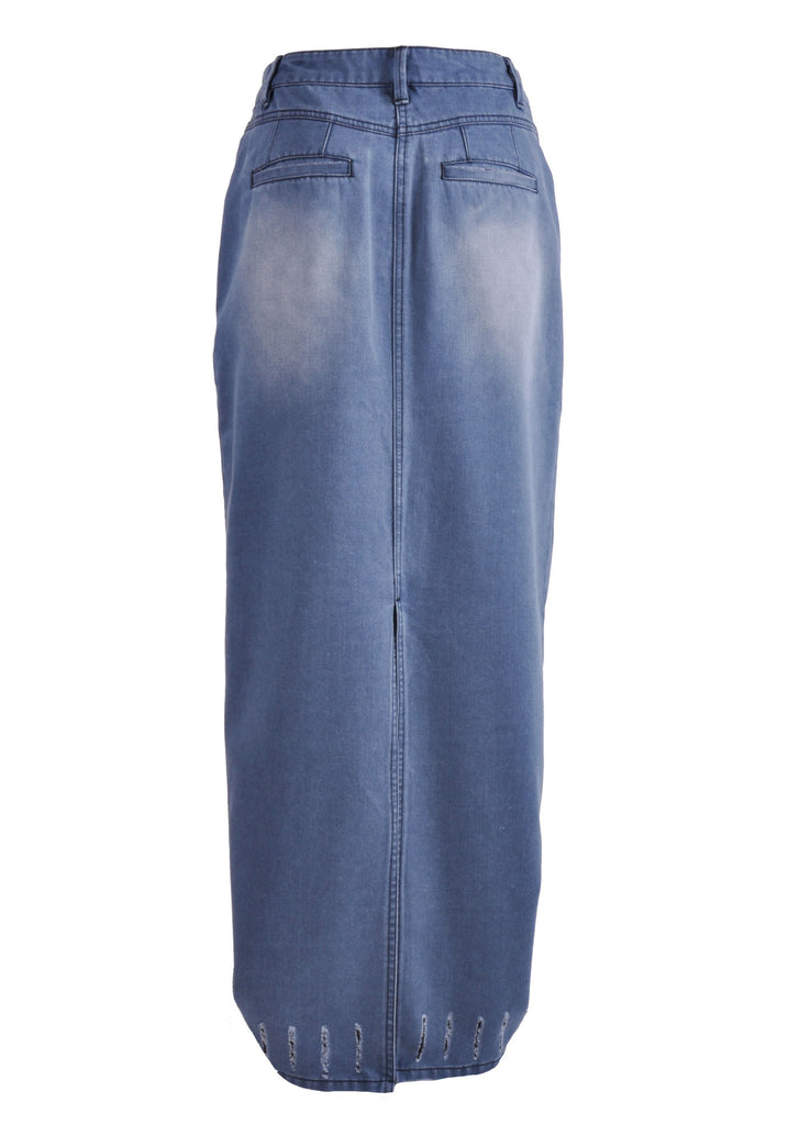 Urban Pencil Long Denim Skirt # TAP-0626