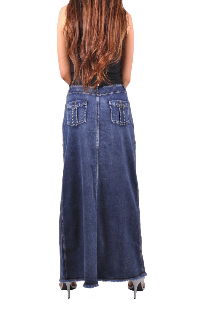 Brushed Blue Denim Skirt # TA-0628
