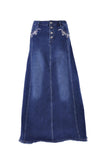 Lily Blue Long Jean Skirt # TA-0645