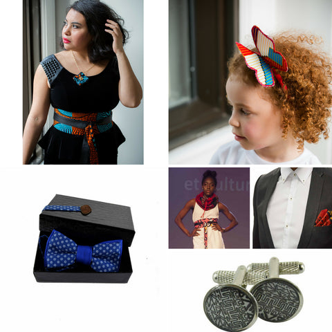 fashion accessories made of African print Ankara in Montreal Quebec