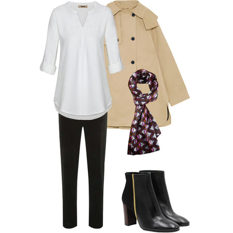 a fall look idea for woman