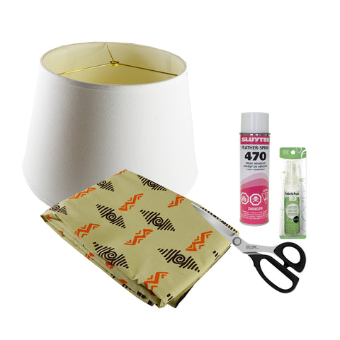 Material to cover a lampshade with fabric