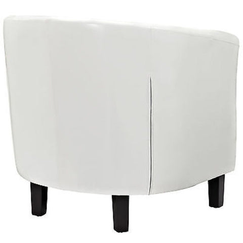 Cheer Modern Club Armchair in White