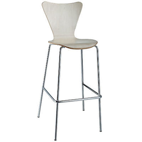 Arne Jacobsen Series Seven Style Bar Stool in Natural