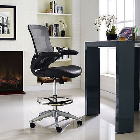 Attainment Drafting Stool in Black
