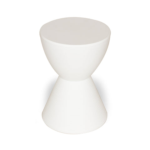 Hourglass Stool in matte white