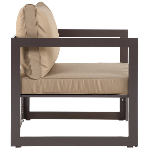 Fortuna Outdoor Patio Armchair in Brown Mocha