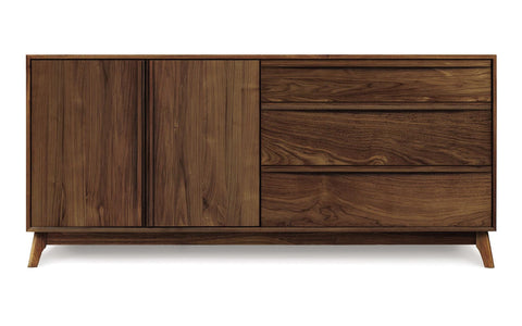 Catalina Three Drawer Dresser with Cupboards by Copeland