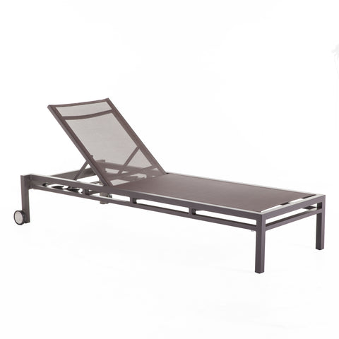 Dallas Outdoor Sun Lounger In Brown