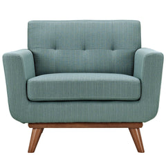 Engage Upholstered Armchair in Laguna - Mid Mod Finds