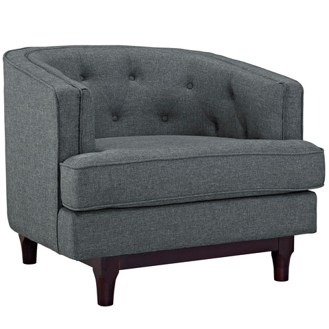Coast Upholstered Armchair in Gray