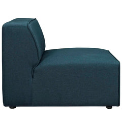 Mingle Fabric Armless Chair in Blue
