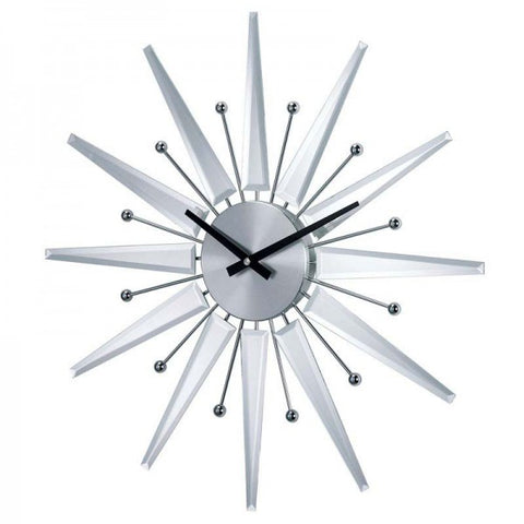 George Nelson Midcentury Modern Style Mirrored Starburst Clock - Mid Mod Finds