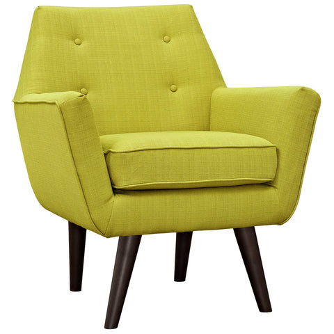 Posit Upholstered Armchair in Wheatgrass