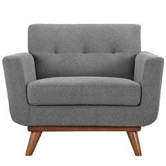 Engage Upholstered Armchair in Expectation Gray - Mid Mod Finds