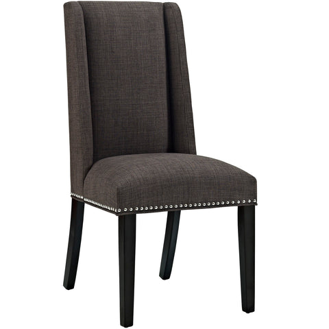 Baron Fabric Dining Chair in Brown