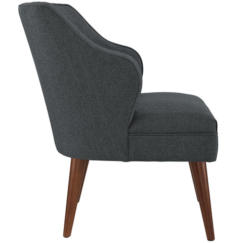 Swell Fabric Armchair in Gray