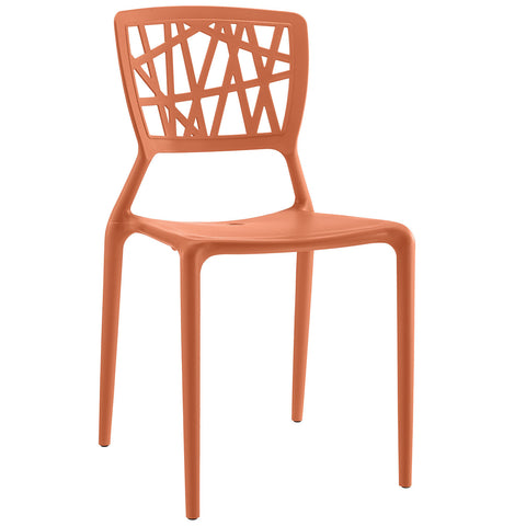 Astro Dining Side Chair in Orange