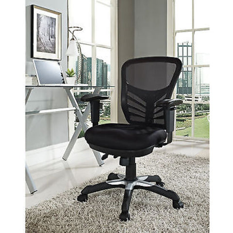 Articulate Mesh Office Chair in Black - Mid Mod Finds