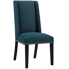 Baron Fabric Dining Chair in Azure