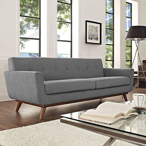 Engage Upholstered Sofa in Expectation Gray