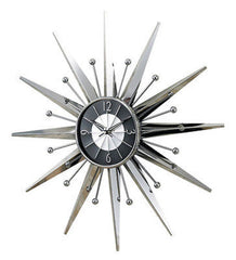 George Nelson Midcentury Modern Style Metal Sunray Clock