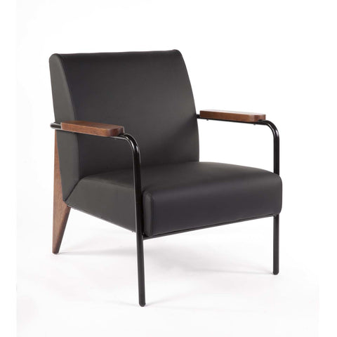 Linz Armchair in Black and Walnut