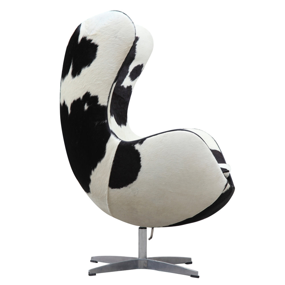 ... Pony Hide Egg Chair, Black And White   Mid Mod Finds ...