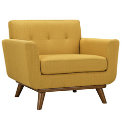 Engage Upholstered Armchair in Citrus - Mid Mod Finds