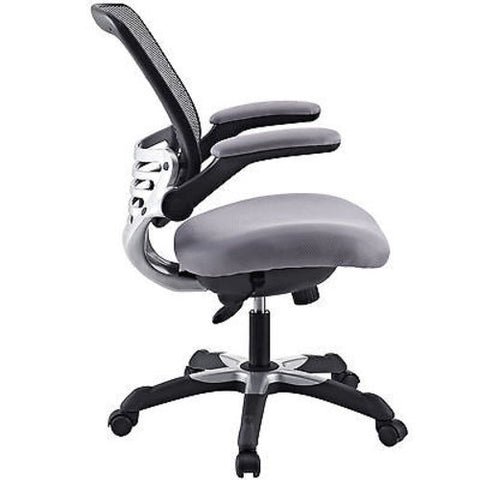 Mesh Back Office Chair with Gray Fabric Seat