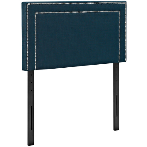 Jessamine Twin Upholstered Fabric Headboard in Azure - Mid Mod Finds
