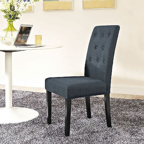 Confer Dining Fabric Side Chair in Gray