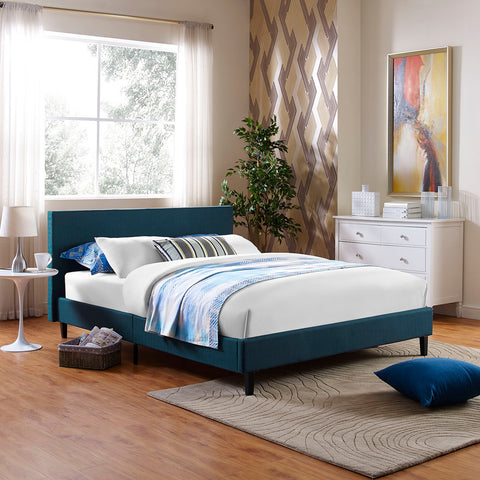 Anya Queen Bed in Azure