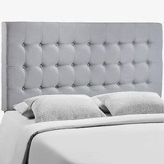 Addison Queen Headboard in Gray - Mid Mod Finds