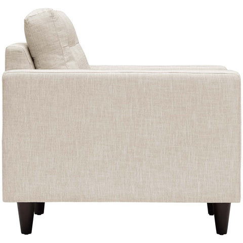 Empress Upholstered Armchair in Beige