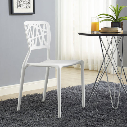 Astro Dining Side Chair in White