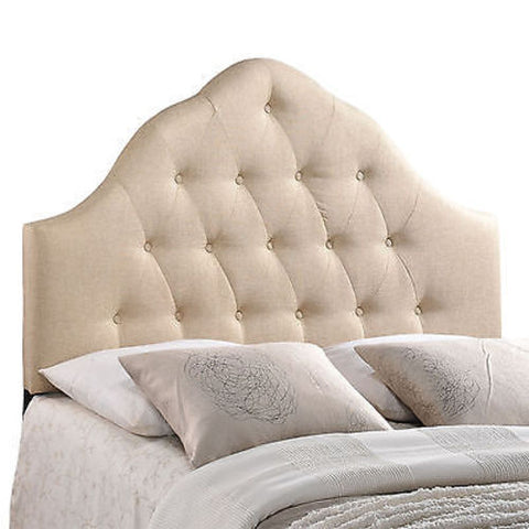 Sovereign Full Fabric Headboard in Beige - Mid Mod Finds