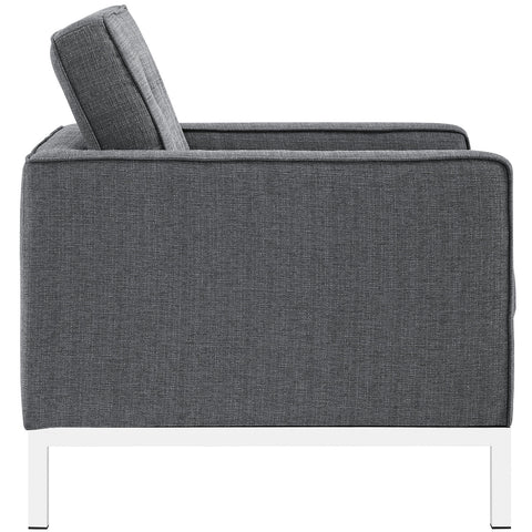 Loft Fabric Armchair in Gray