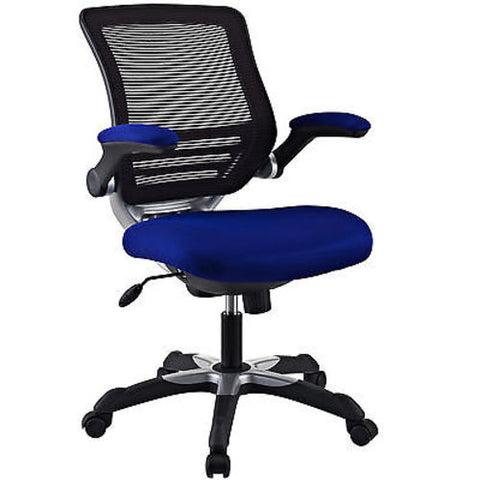 Mesh Back Office Chair with Blue Fabric Seat