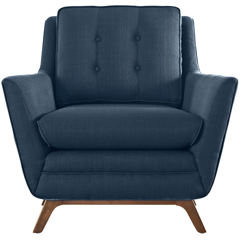 Beguile Fabric Armchair in Azure
